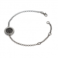 Pulsera Button Black