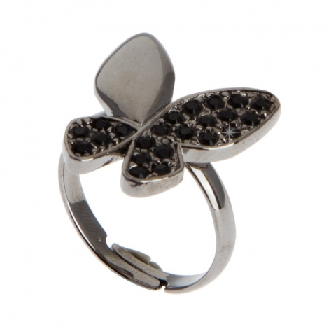 Anillo Butterfly Black