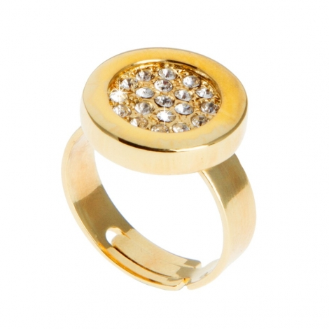 Anillo Button Gold