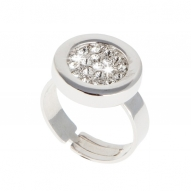 Anillo Button SIlver