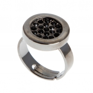 Anillo Button Black