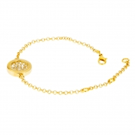 Pulsera Button Gold