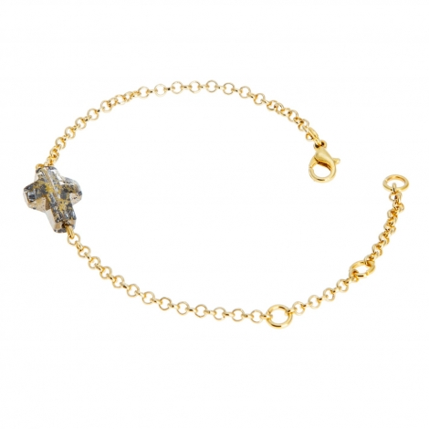 Pulsera Cross Patin Gold