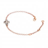 Pulsera Cross Patin Rose