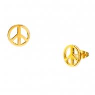Pendientes Peace Gold