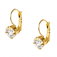 Pendientes Long Radiancy Crystal Gold