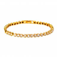 Pulsera Tennis Gold