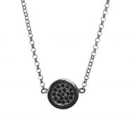 Colgante Button Black