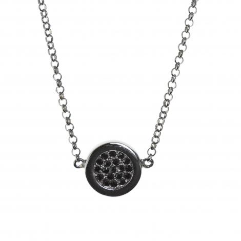 Colgante Button Black