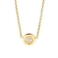Colgante Button Gold