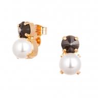 Pendientes Rock Pearl con Cristales de Swarovski 1