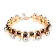 Pulsera Rock Pearl de Oro Rosa con Cristales de Swarovski