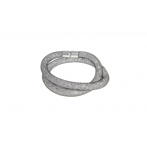 Brazalete Pléyades Double Black Diamond Silver