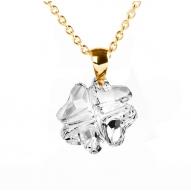 Colgante Clover Crystal Gold